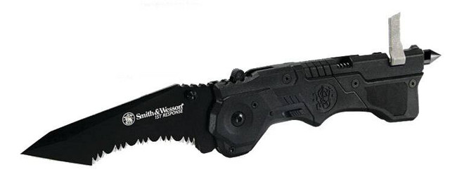 Smith and Wesson First Responder Black MAGIC Assisted Opening Knife SW911B 028634702176