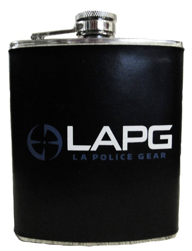 LA Police Gear Stainless Steel Logo Flask AC-FLASK 641606864414