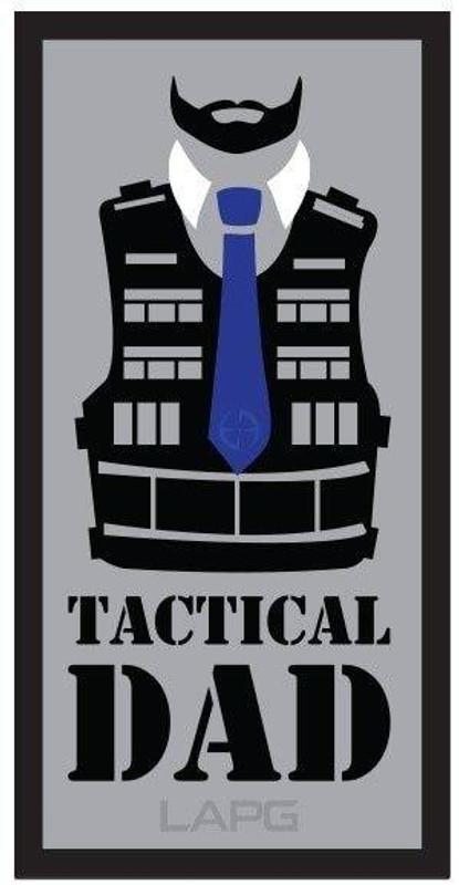 LA Police Gear Tactical Dad 2.97 x 1.5 Sticker TACDAD-DECAL