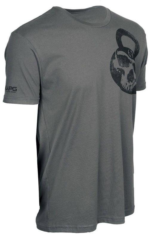 LA Police Gear Mens Skull Kettlebell Short Sleeve T-Shirt KETTLEBELL-SKULL