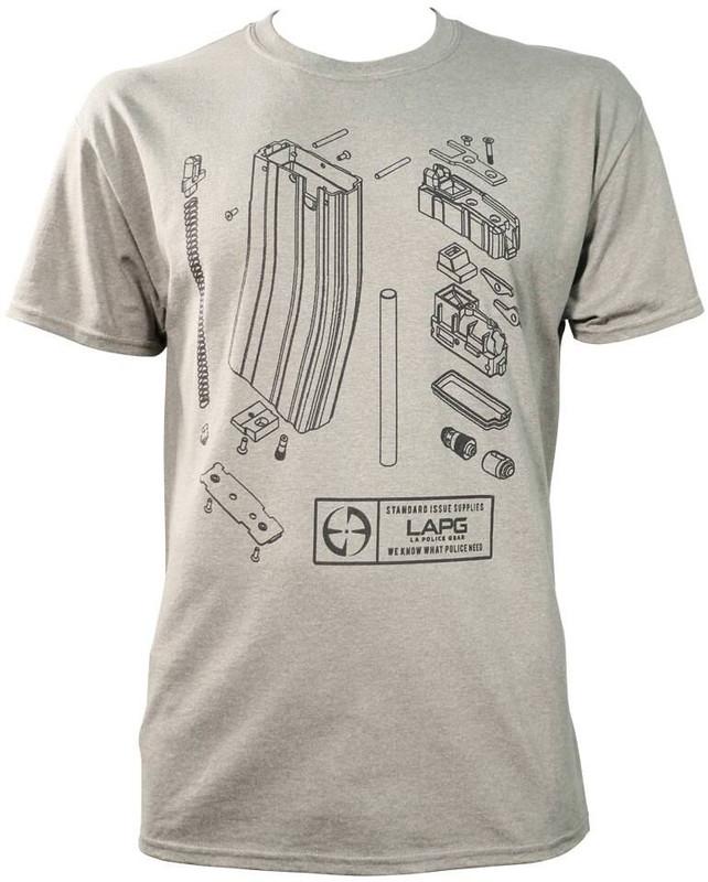 LAPG Mens Airsoft Magazine Diagram T-Shirt SS MAG