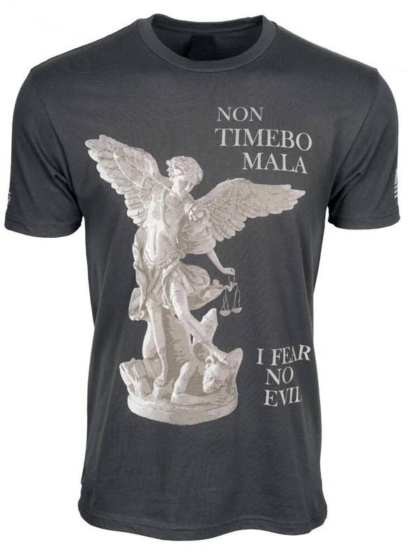 LAPG Mens Saint Michael Protect Us T-Shirt SAINT-MICHAEL