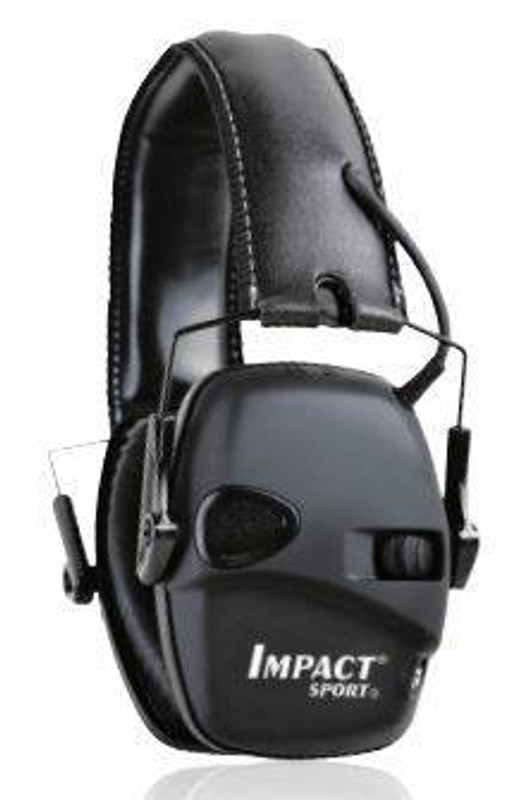 Howard Leight Black Impact Sport Electronic Earmuff with Deluxe Headband R-02524 033552025245
