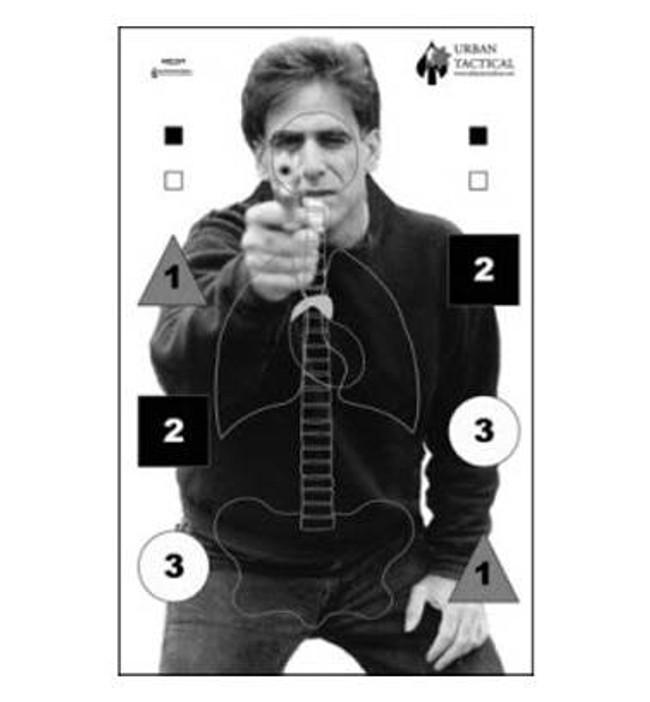 Law Enforcement Targets, Inc Urban Tactical Anatomy Photo Targets - Minimum Quantity of 25 ANT-7UT