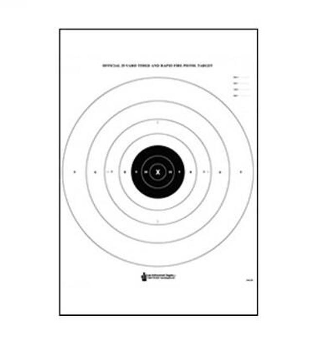 Law Enforcement Targets, Inc B-8 Bullseye and Sighting Target - Minimum Quantity of 25 B-8