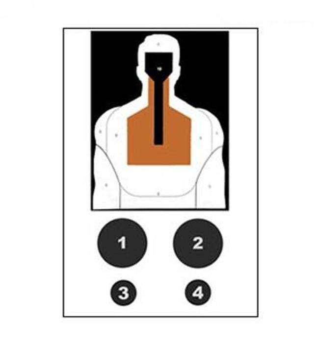 Law Enforcement Targets, Inc Primary Neutralization Silhouette Target - Minimum Quantity of 25 DST-5