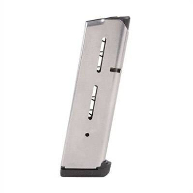 Wilson Combat Mag Officer 45 ACP 7Rd Stainless 1911 47OXC 47OXC 874218002374