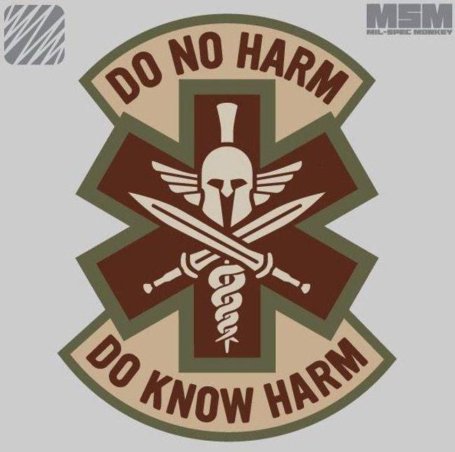 Mil-Spec Monkey Do No Harm Spartan Patch DO-NO-HARM-SPARTAN