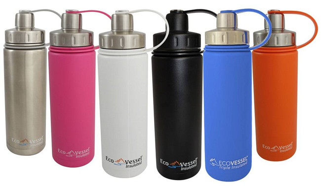 Eco Vessel Boulder Insulated Water Bottle - 20 Oz BLD600