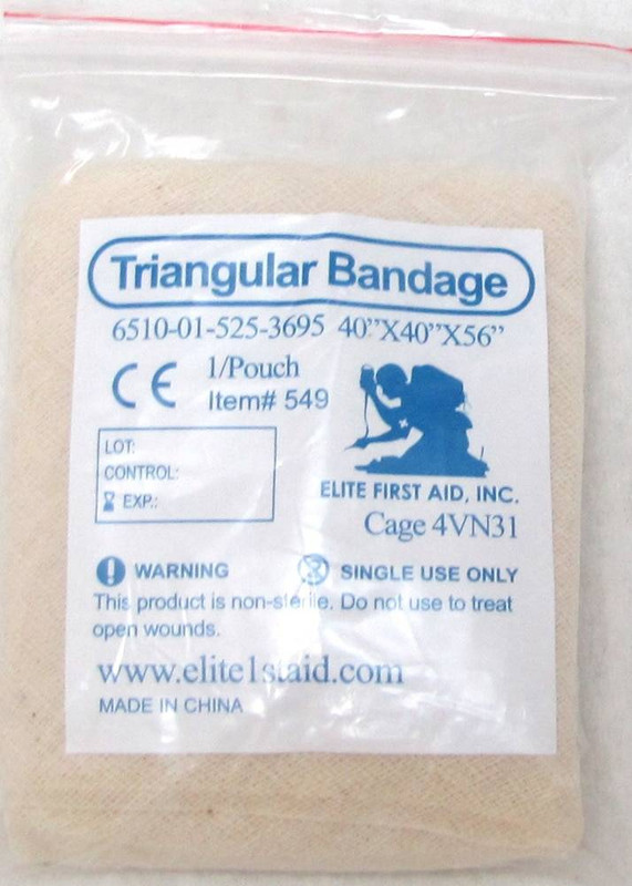Elite First Aid Triangular Bandage Tan 549 616784368115