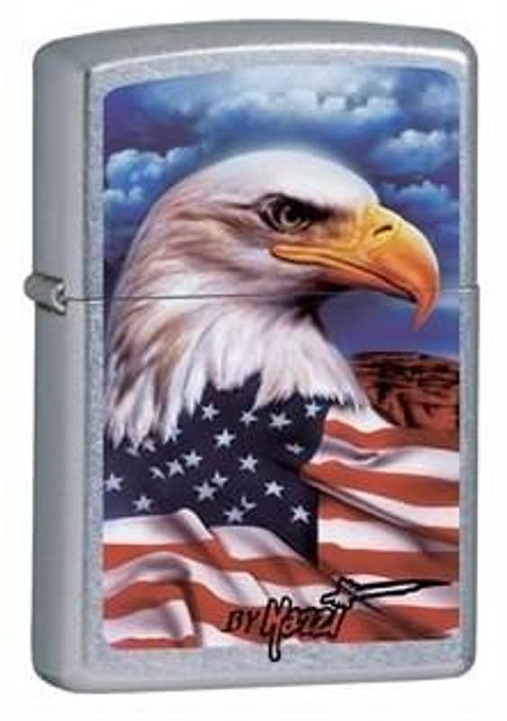 Zippo Windproof Eagle Mazzi Street Chrome Lighter 24764