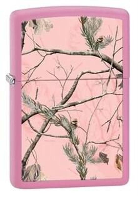 Zippo Windproof Real Tree APC Matte Pink Lighter 28078