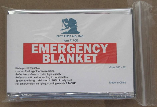 Elite First Aid Silver/Silver Emergency Blanket 700 736211564849