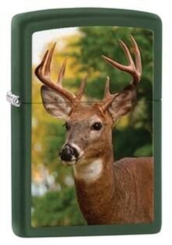 Zippo Windproof Green Matte Deer Lighter 28471