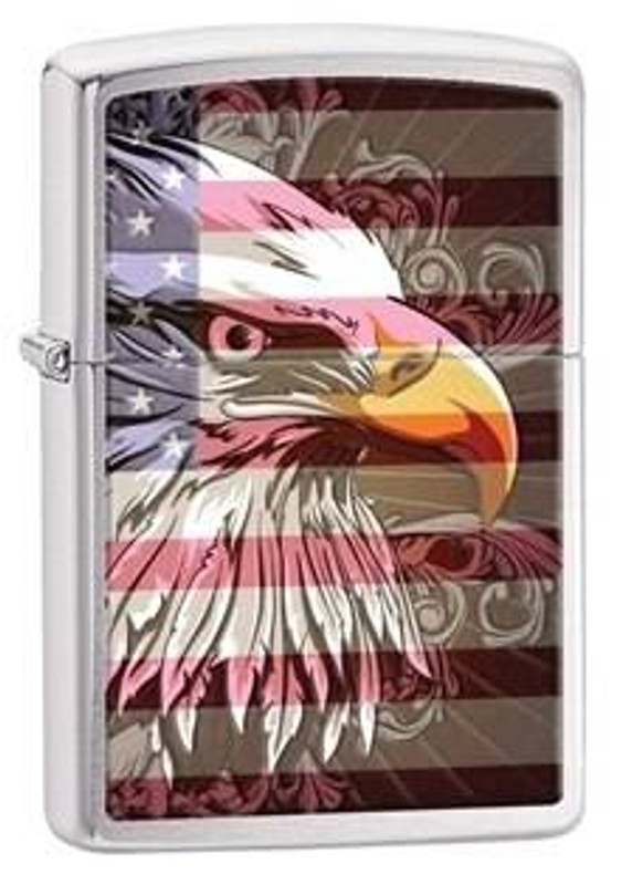 Zippo Windproof Brushed Chrome Eagle Lighter 28652