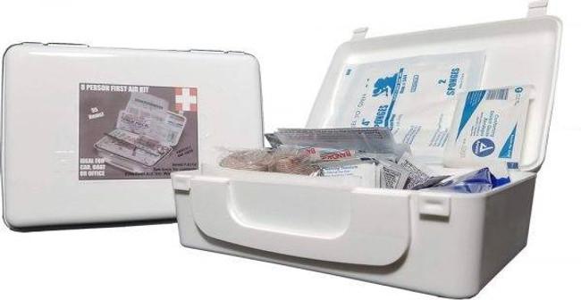 Elite First Aid, Inc 8 Person White Series First Aid Kit FA114 335455888887