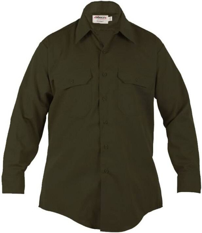 Elbeco Mens LA County Sheriffs Class B L/S Shirt - Forest Green LA-SHERIFF-4656N