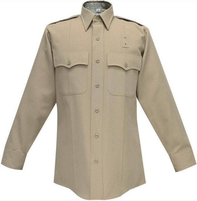 Flying Cross 65percent Polyester/35percent Rayon Deluxe Tropical Mens Shirt with Plain Pockets 19W66