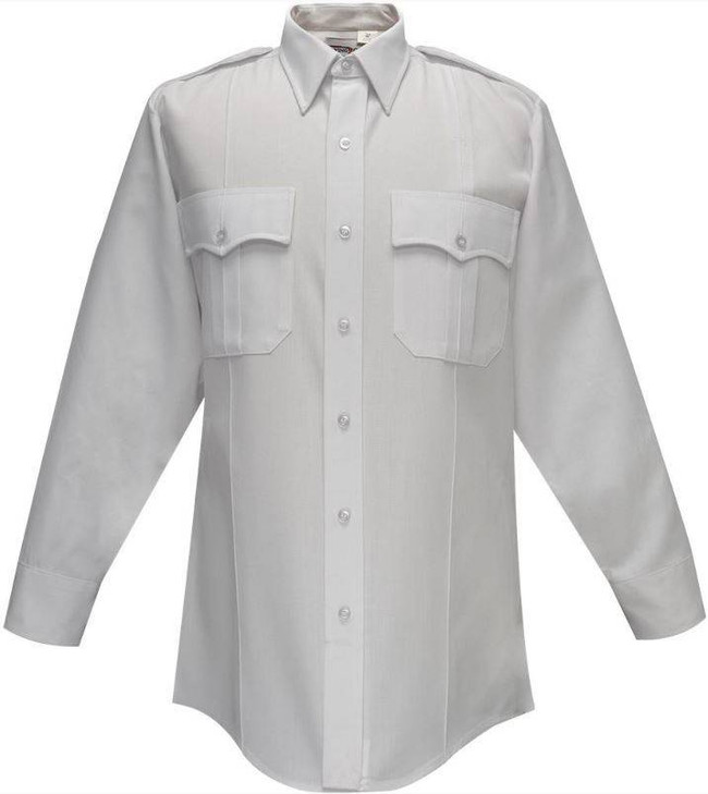 Flying Cross 65percent Polyester/35percent Rayon Deluxe Tropical Mens Shirt with Pleated Pockets 45W66