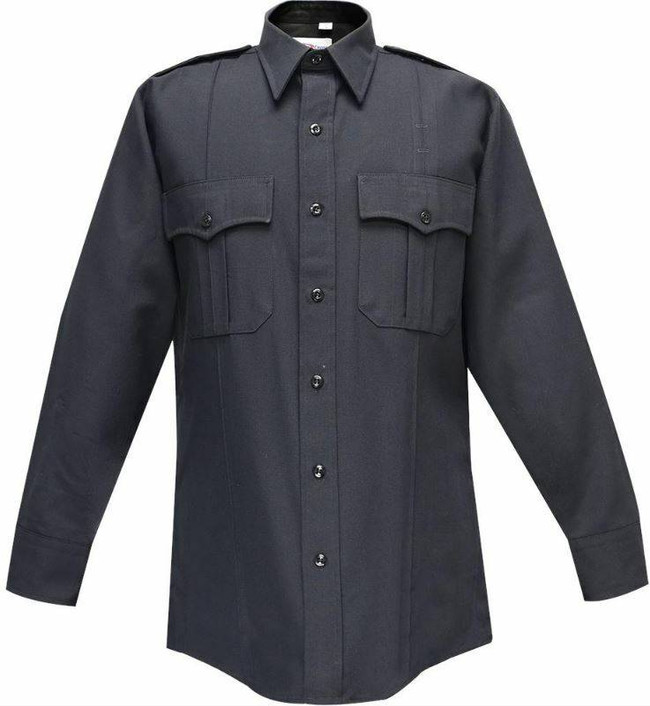 Flying Cross 65percent Polyester/35percent Rayon Deluxe Tropical Mens Shirt with Convertible Button Option 47W66