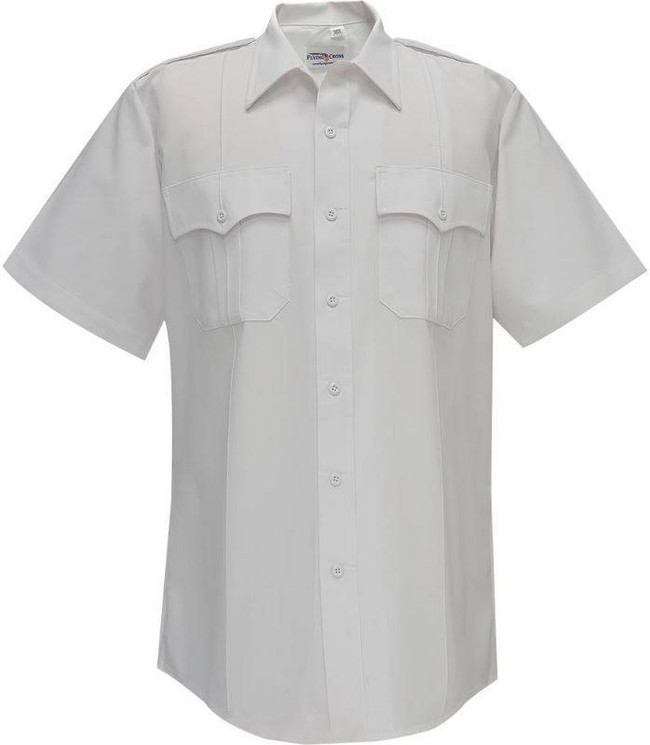 Flying Cross 100percent Performance Poly Command Mens Short Sleeve Shirt with Sport Collar and Zipper 85R78Z