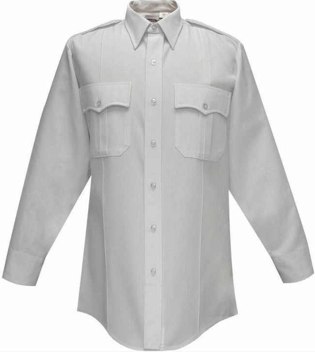 Flying Cross 65percent Polyester/35percent Rayon Deluxe Tropical Mens Short Sleeve Shirt with Pleated Pockets 95R66