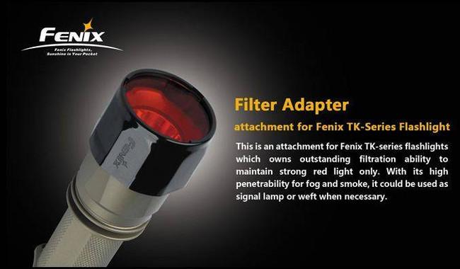Fenix Lighting Red Filter Adapter for PD/LD/TK Series Flashlights REDFILTER
