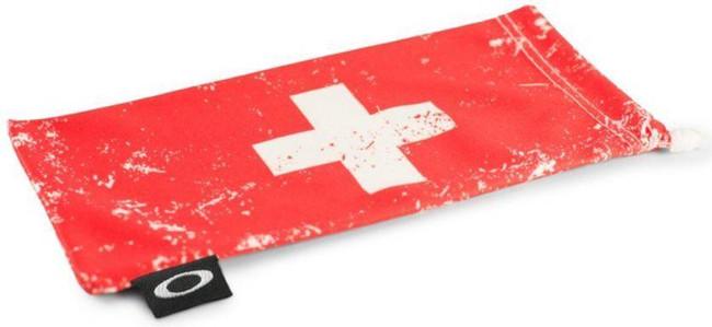 Oakley Switzerland Flag Microbag 100-789-007 888392152046