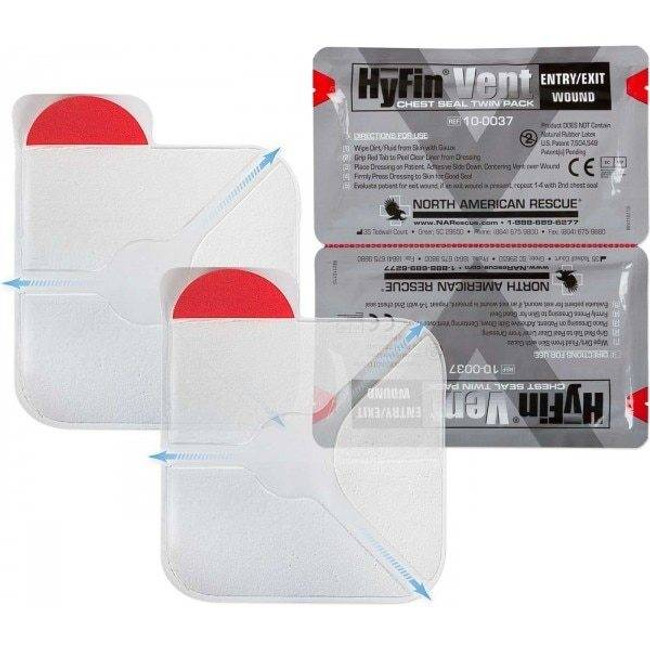 North American Rescue HyFin Chest Seal - Twin Pack 10-0037