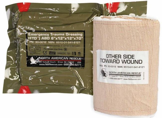 North American Rescue Flat Emergency Trauma Dressing ETD - 4 30-0093