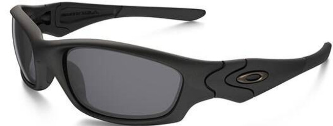 Oakley SI Straight Jacket Matte Black Sunglasses with Grey Lenses 11-013 700285081205
