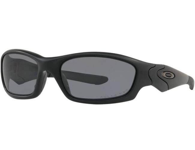 Oakley SI Straight Jacket Matte Black Sunglasses with Grey Polarized Lenses 11-014 700285081212