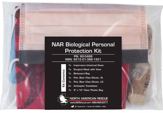 North American Rescue Biological Personal Protection Kit 80-0488