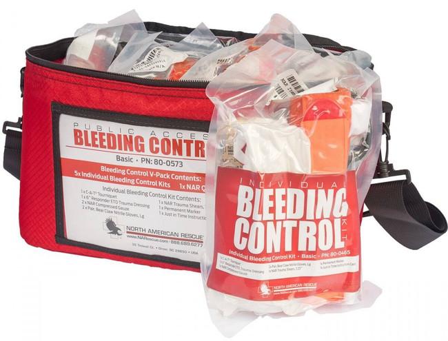 North American Rescue Public Access Bleeding Control 5-Pack-Vacuum Sealed PABC-5P