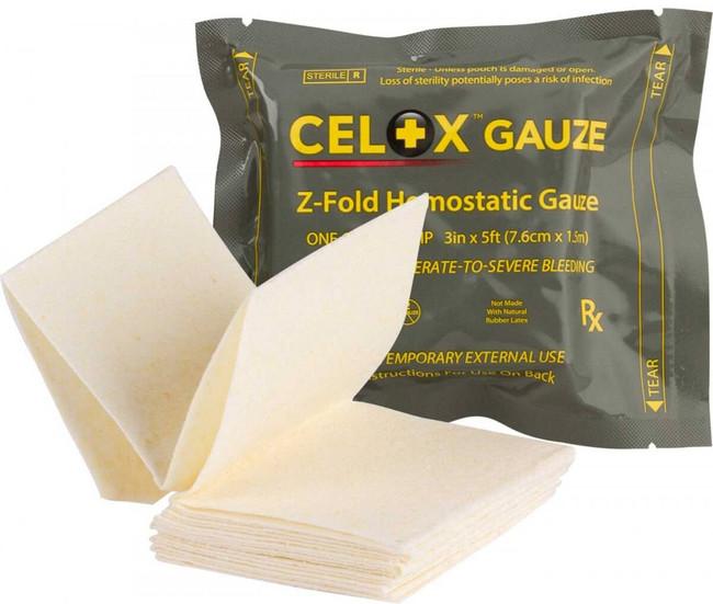 North American Rescue Celox Z-Fold Hemostatic Guaze CELOX-Z