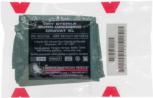 North American Rescue Dry Sterile Burn Dressing Cravat XL 30-0162