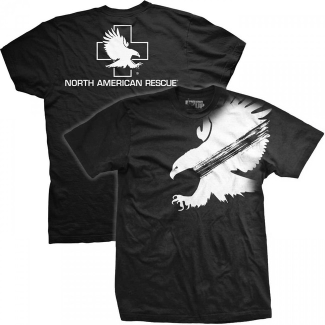 North American Rescue Grunge Eagle Graphic T-Shirt GEGT