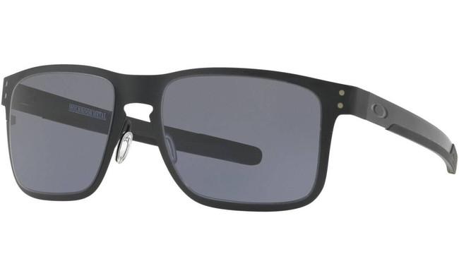 Oakley Holbroook Metal Matte Black With Grey Sunglasses OO4123-0155