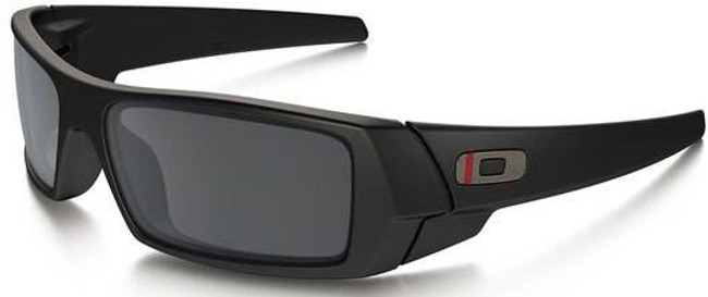 Oakley SI Gascan Thin Red Line Satin Black Sunglasses with Black Iridium Lenses OO9014-2060 888392249128