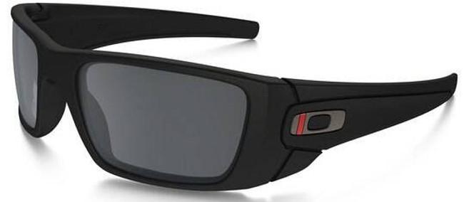 Oakley SI Fuel Cell Thin Red Line Satin Black Sunglasses with Black Iridium Lenses OO9096-I060 888392249088