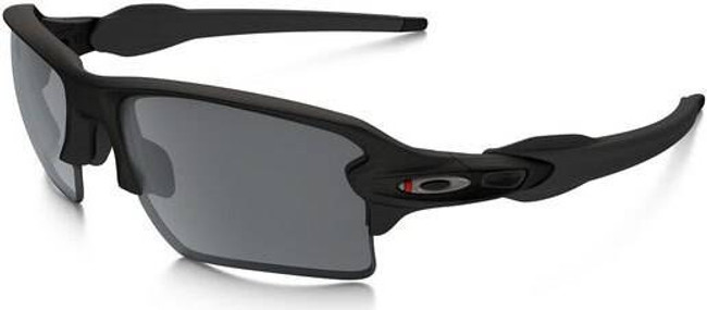 Oakley SI Flak 2.0 XL Thin Red Line Satin Black Sunglasses with Black Iridium Lenses OO9188-6459 888392249166