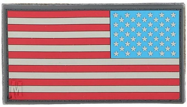 Maxpedition Reverse USA Flag Patch - Large - 3.25x1.75 US2R