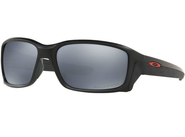 Oakley SI Straightlink Matte Black Sunglasses with Black Iridium Polarized Lenses OO9331-2558 888392345547