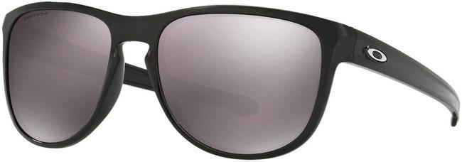 Oakley Sliver Round Polished Black Sunglasses with Black Iridium Polarized Lenses OO9342-1657
