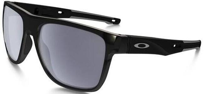 Oakley Crossrange XL Polished Black Sunglasses with Grey Lenses OO9360-0158