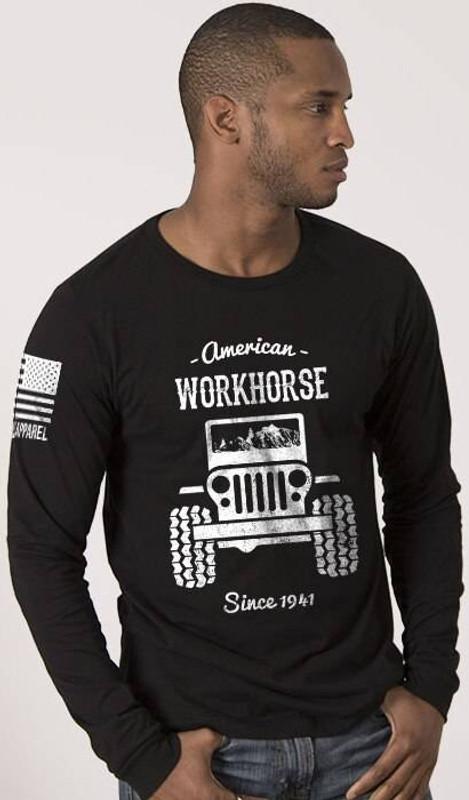 Nine Line American Workhorse Full Front Mens Long Sleeve Shirt WORKHORSE-LS