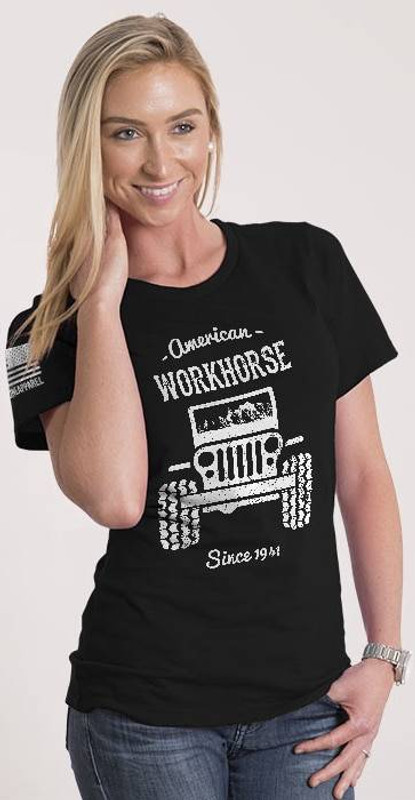 Nine Line American Workhorse Womens Relaxed Fit T- Shirt WORKHORSE-WRTS