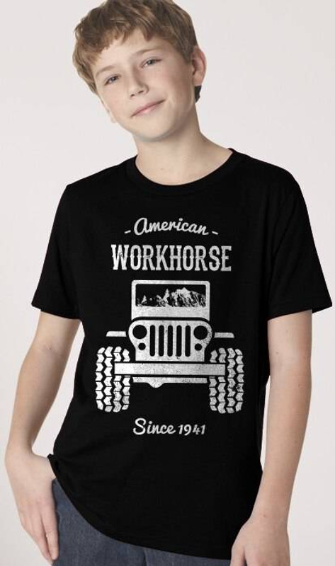 Nine Line American Workhorse Youth T-Shirt WORKHORSE-YTS