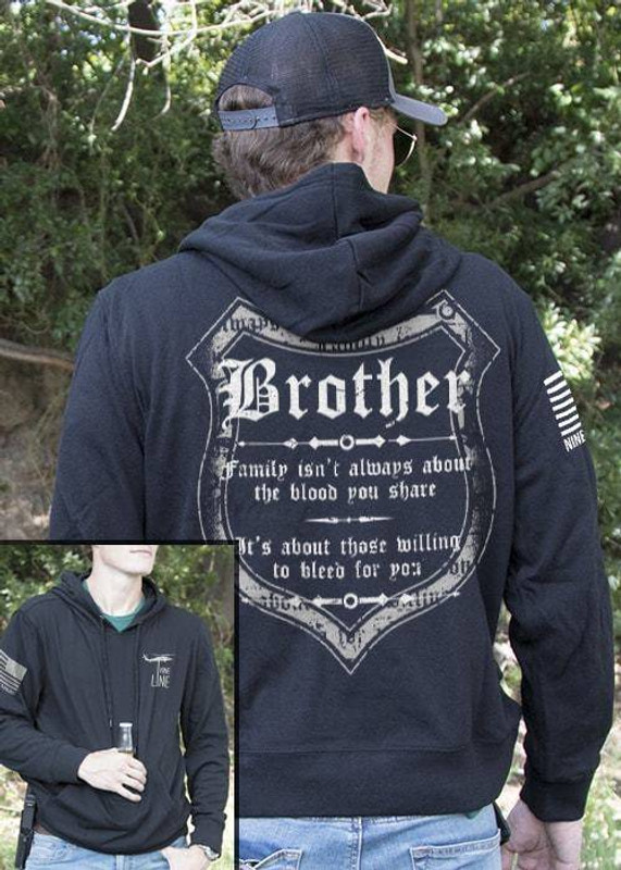 Nine Line Blood and Family Light Weight Tailgater Hoodie BLOODFAM-LWTGS