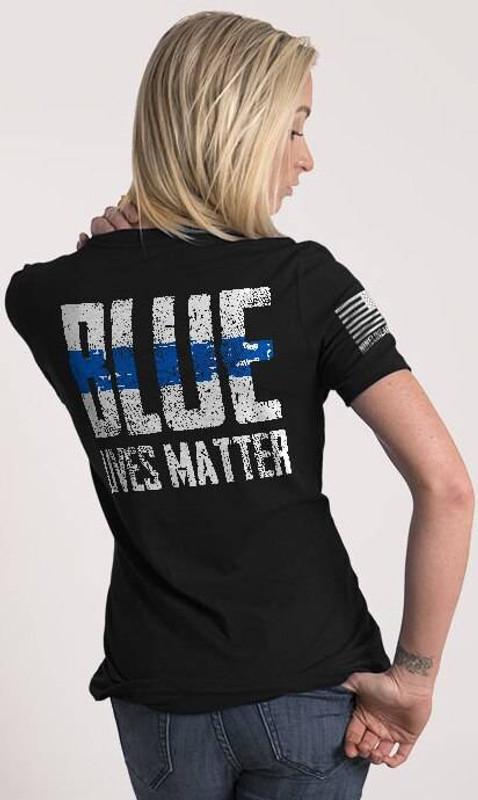 Nine Line Blue Lives Matter Womens Relaxed Fit T-Shirt BLM2-WRTS